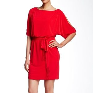 Jessica Simpson Draped Cold Shoulder Dress